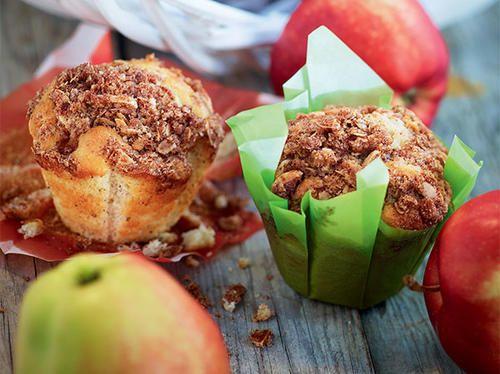 Berry muffinit havrecrumble