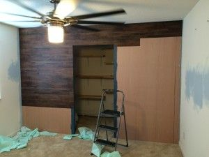 Faux Wood Wall Diy Peel And Stick Laminate Planks Who Said They Have To Go On Floors Pixie Dust Paint Projects Pinterest Wood Walls