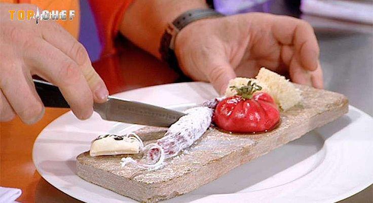 Trampantojo de fuet y 'pa amb tomàquet' de Top Chef