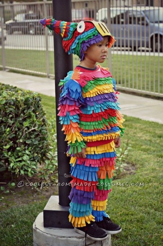 Most Awesome Homemade Pinata Costume Ever!… Enter Coolest Halloween Costume Contest at http://ideas.coolest-homemade-costumes.com/submit/