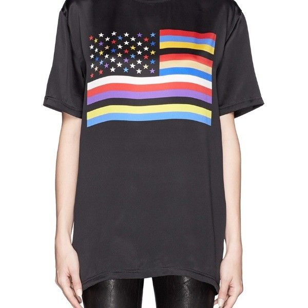 Givenchy American flag print silk T-shirt by
