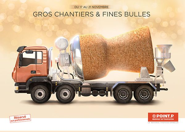 Point-P truck and champagne cork on Behance