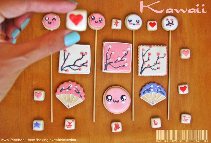 Kawaii - my 'new' Japanese style cookies with my beloved kawaii faces  ^_^