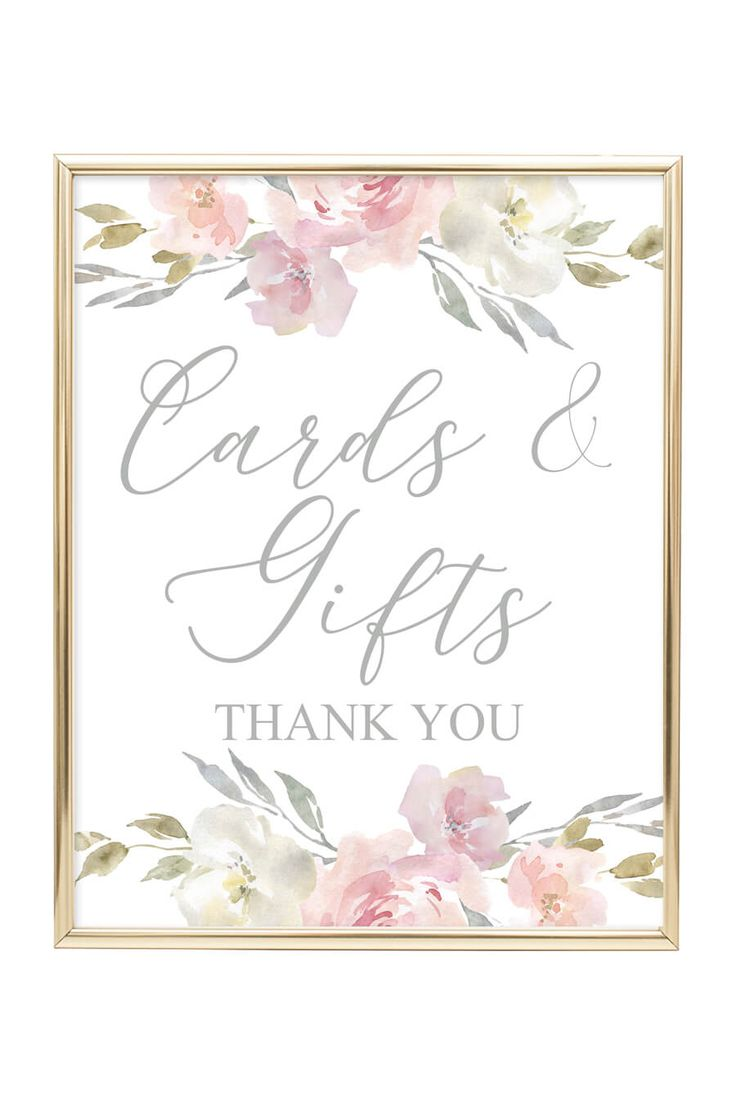 Cards Gifts Printable Sign Blush Floral Chicfetti Free Wedding Printables Printable Wedding Sign Free Printable Wedding Invitations