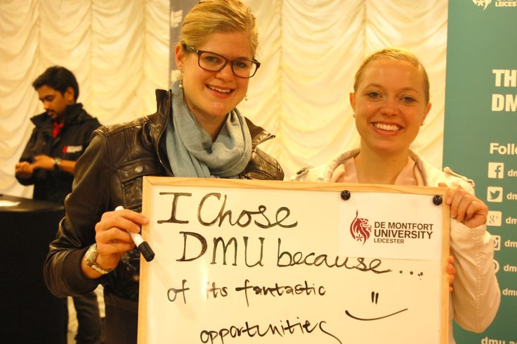 Two first year students tell us why they chose De Montfort University Leicester.