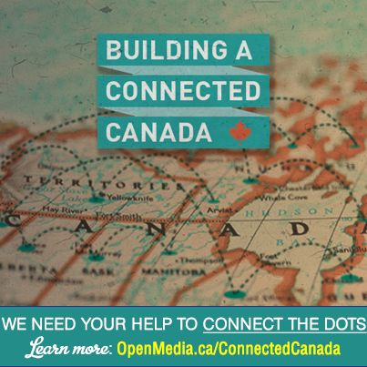 OpenMedia.ca is committed to tackling Canada's growing digital deficit - and we need you to help us connect the dots! At the end of this month, we will be submitting ideas, strategies, and solutions for a Connected Canada as part of an official consultation with the CRTC. That's where you come in.   Learn more, become a host, and participate in a meetup at https://OpenMedia.ca/ConnectedCanada