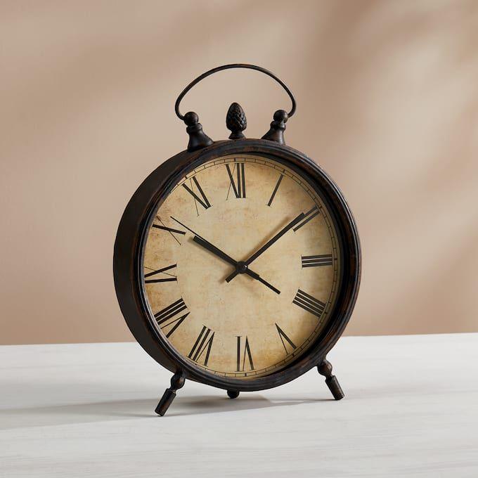 Rustic Table Clock Table Clock Rustic Table Clock