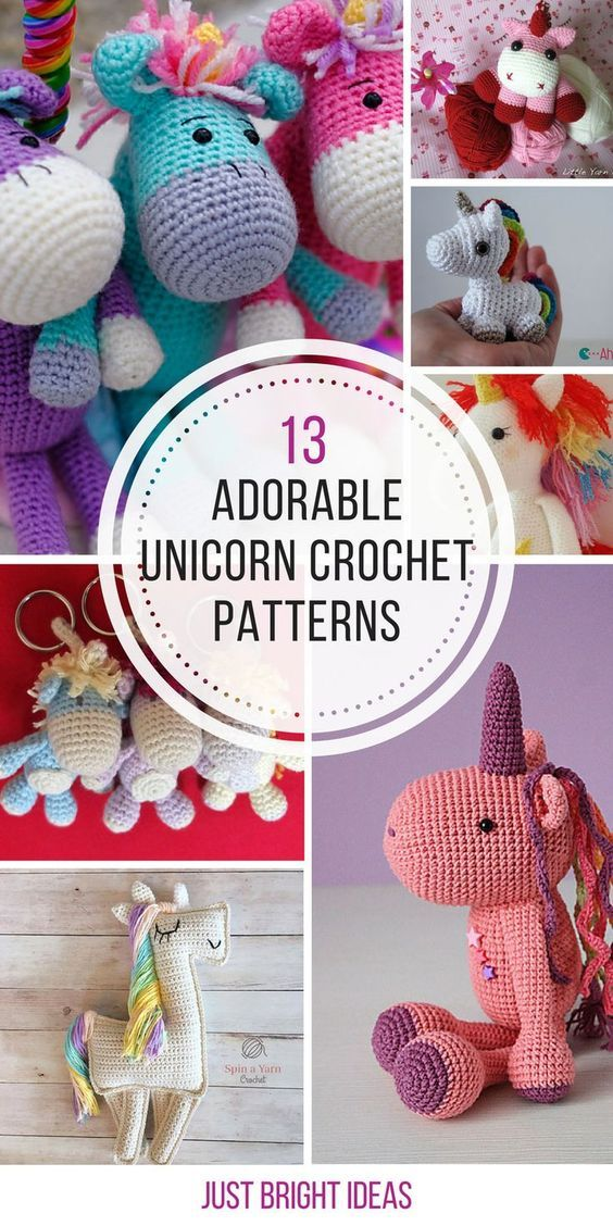 These unicorn crochet patterns are adorable! Thanks for sharing! | Beautiful Cases For Girls