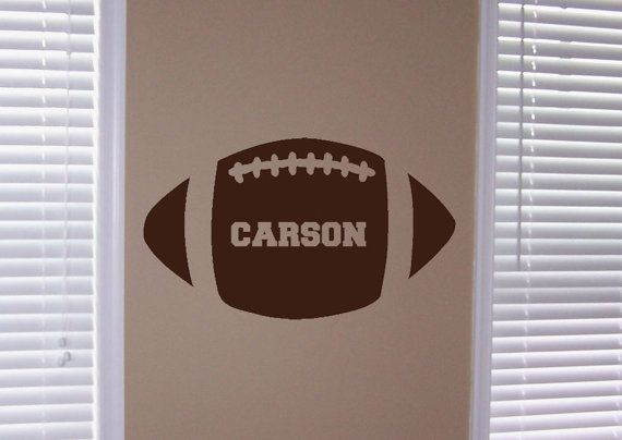 Personalized Football Vinyl Wall Art by designstudiosigns on Etsy, $29.50