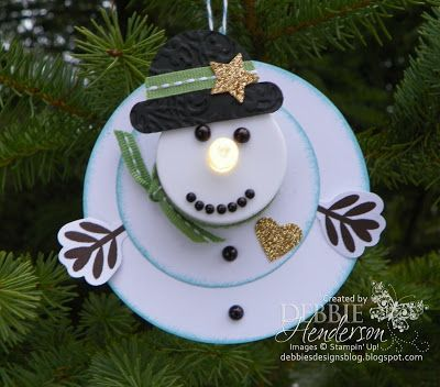 12 Days of Christmas Ornaments Day 4! Stampin' Up! products and tutorial by Debbie Henderson, Debbie's Designs.