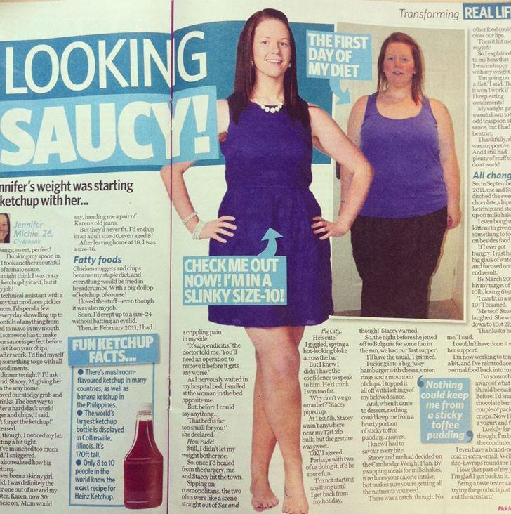 Cambridge Weight Plan in Pick-Me-Up magazine (Aug 2013)