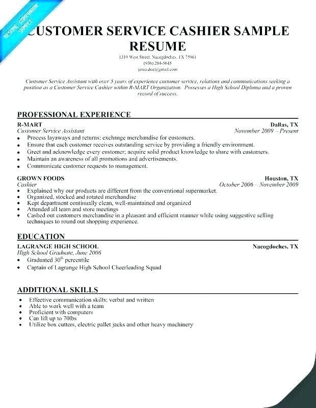 Cashier Responsibility Resume Resume Summary Examples Resume Examples Sample Resume