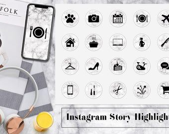 Rose Gold Marble Instagram Story Highlight Icons - Instagram Stories - Instagram Story Covers - Beauty - Highlights - IOS 14 App Icons