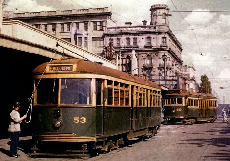 Another great local pic. St Kilda tram stop.
