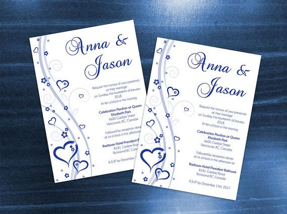 DIY Printable Wedding Invitation Card Template  by WeddingCreative