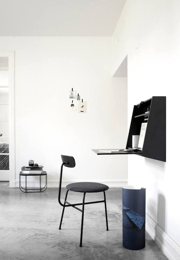 vosgesparis: Multifunctional wall desk in black | Norm Architects for MENU