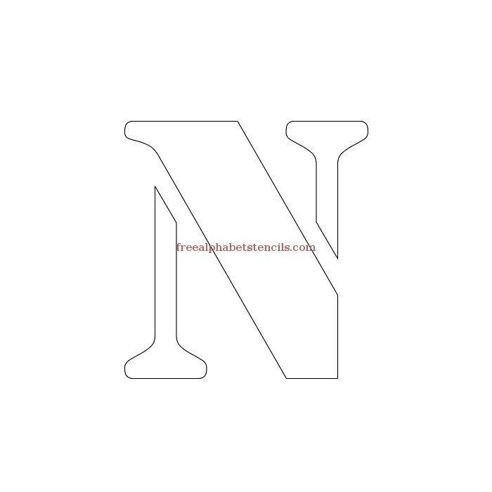 Uppercase Alphabet Stencil N