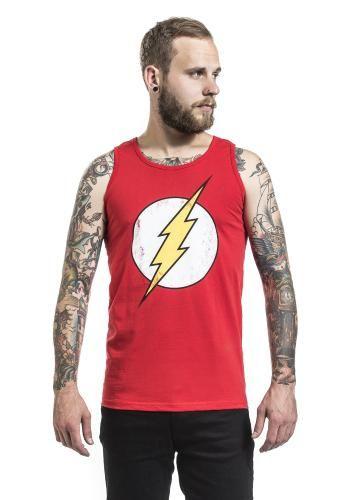 """Canottiera uomo """"Distressed Logo"""" di The Flash."""