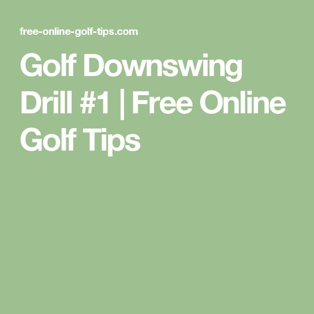 Golf Downswing Drill #1 | Free Online Golf Tips
