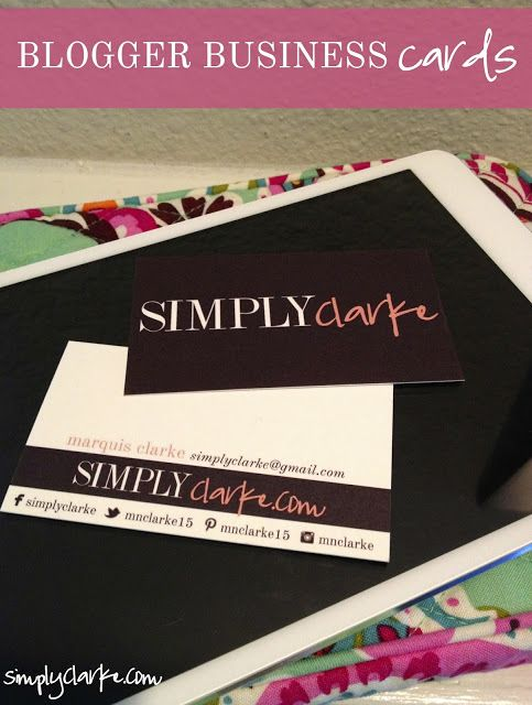 Blogger Business Cards // she does design. But only for Blogger :(