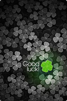 Wishing you all the luck in the world!! :)