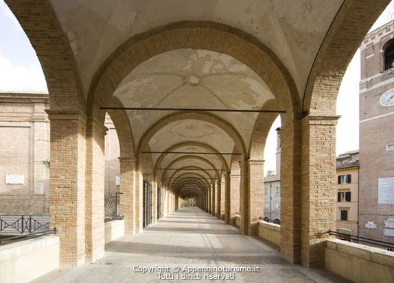 Loggiato (colonnade) of St. Francesco (15th-17th Centuries) - Fabriano - Marche - Italy