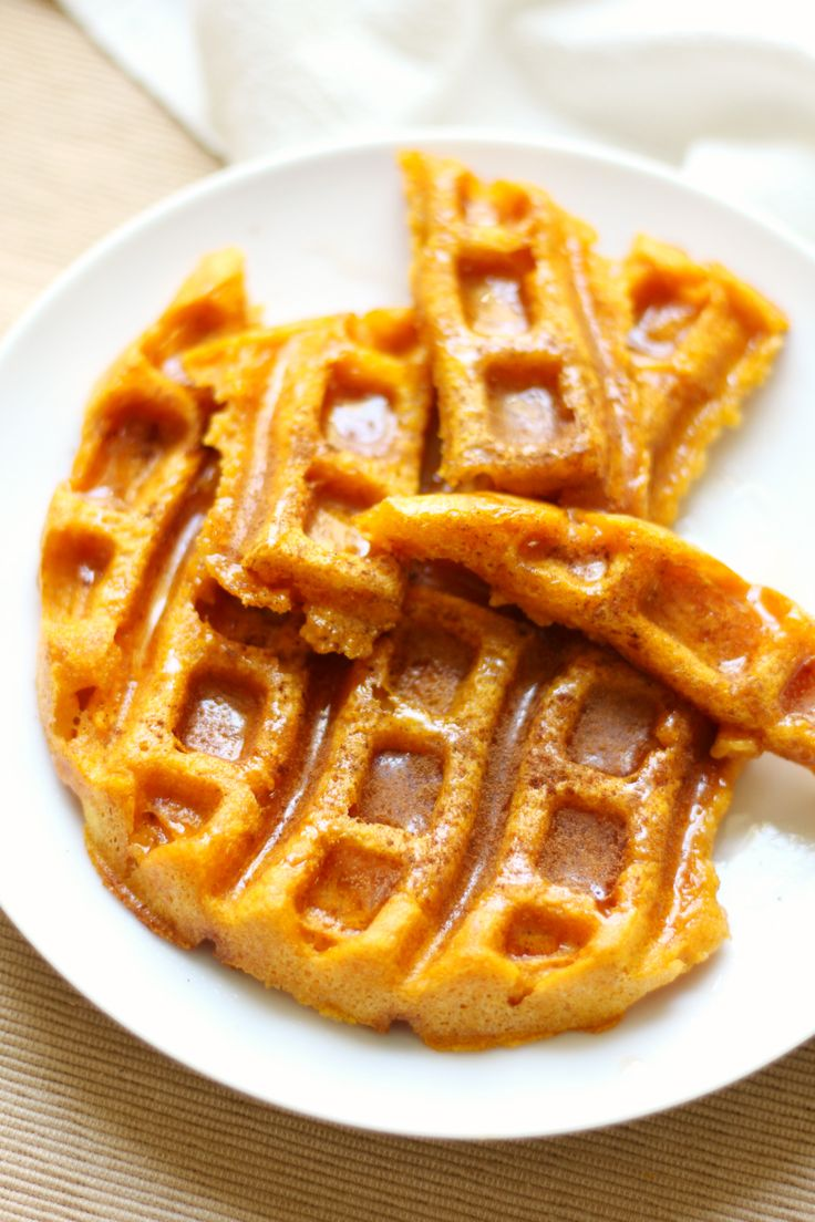 Pumpkin Waffles | Strength and Sunshine @RebeccaGF666 Simple, crispy, and delicious pumpkin waffles! A single-serve, gluten-free, vegan breakfast recipe that's easy and ready in a snap any day of the year! Plus, you can sneak your veggies in!
