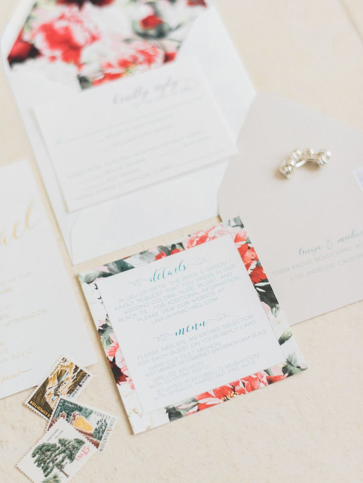 how many stamps do i need for my wedding invitations%0A A BlackTie Affair in the Most Romantic Garden Setting