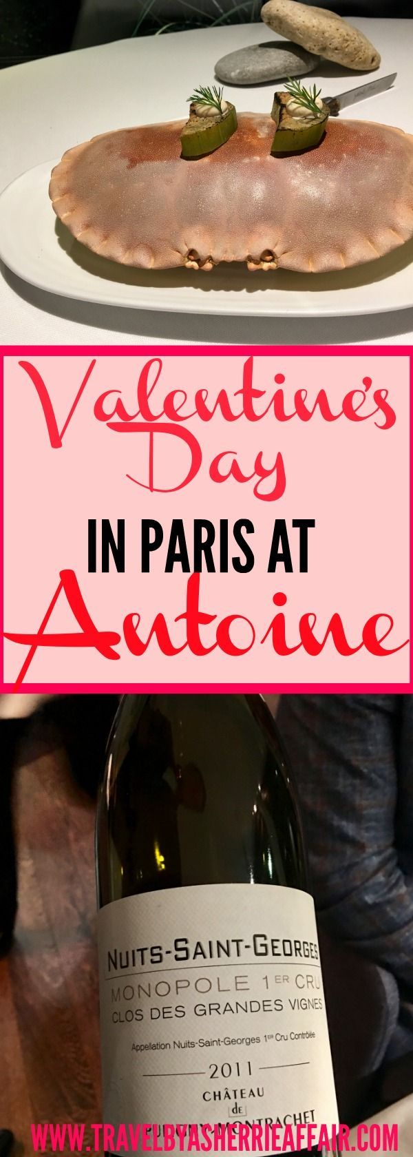Restaurant review at the amazing Antoine Paris France.  Valentine's Day evening was spectacular and delicious!  Read all about our wonderful romantic dining experience ! #Valentinesday #Restaurant #Paris #France