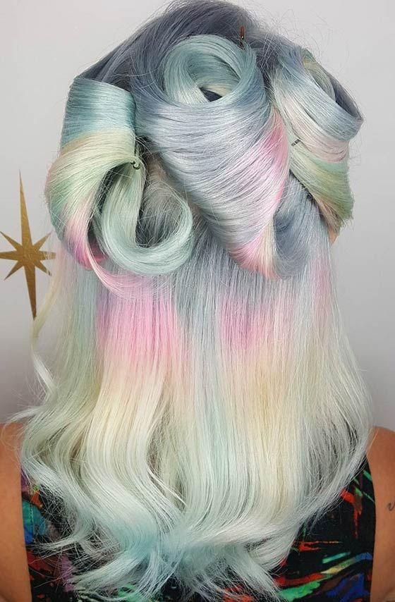 Пастельная радуга