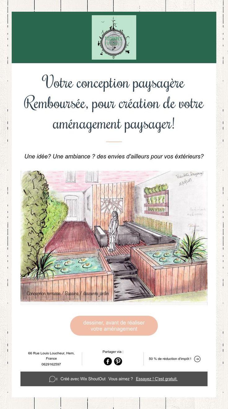 Votre conception paysagère Remboursée, pour création de votre aménagement paysager!