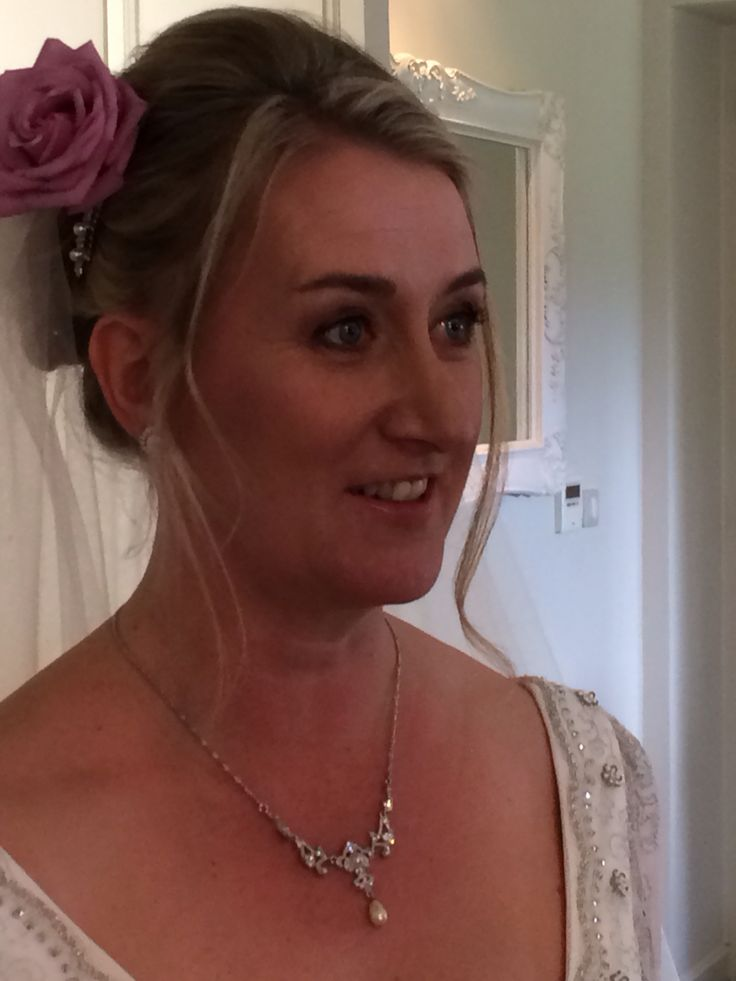 Suzanne all ready to walk down the aisle June 2015