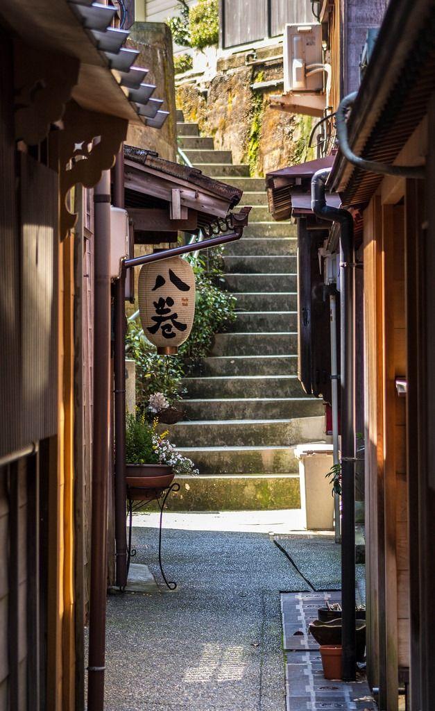 An alleyway in traditional Higashiyama, Kanazawa, Japan.