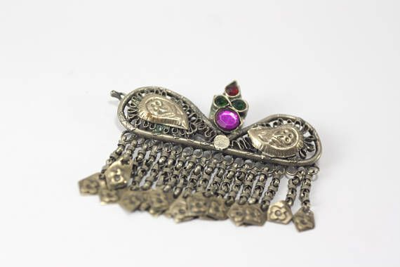 antique hair clip hair jewelry ethnic jewelry ethnic hair
