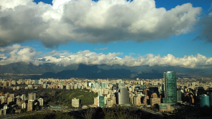 Santiago- Chile, after a rain morning