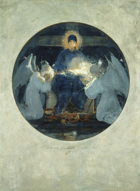 Mother of God, study - Nikolaos Gyzis, 1898.