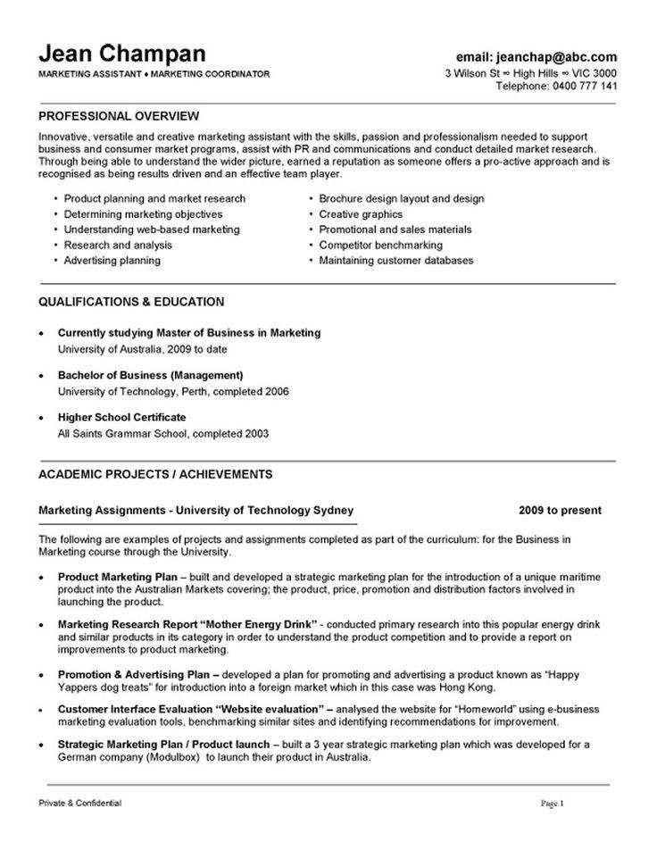 Marketing coordinator assistant resume example job