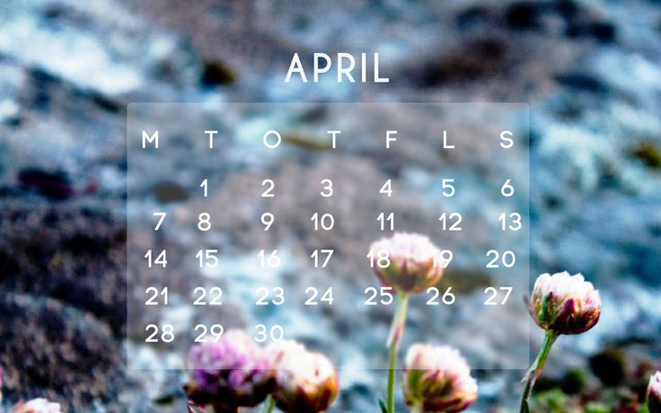 Desktop calendar for April!