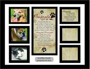 pet collage memorial frame for holding a variety of favorite pet photos