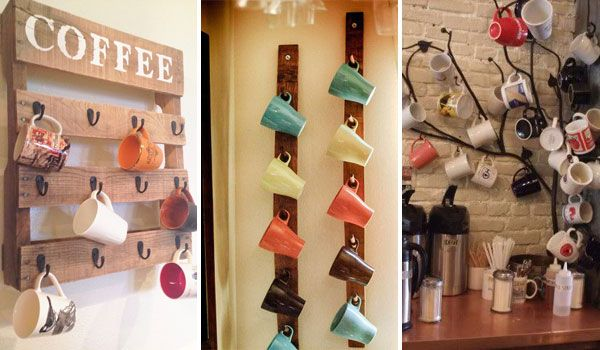 30 Diy Useful And Enjoyable Ways To Store Your Mugs 1