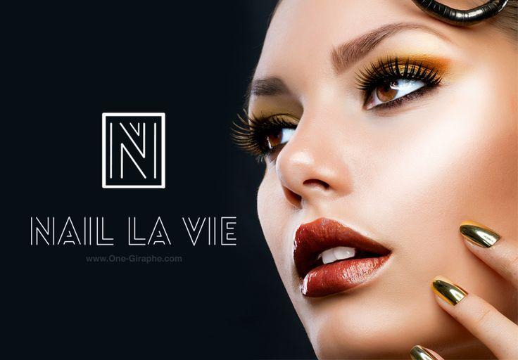 www.One-Giraphe.com Nail la Vie - Portfolio http://one-giraphe.com/prev.php?c=143 #nail #luxury #gold #logodesign #design #logo #portfolio #behance