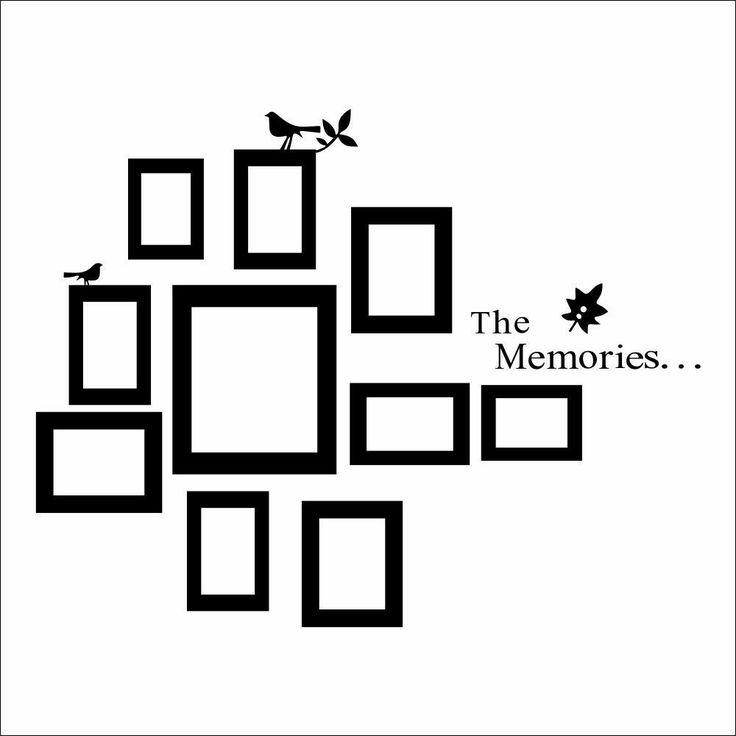 10 marcos de fotos para pared de color negro adhesivos de vinilo de decoración para el hogar: Amazon.es: Hogar