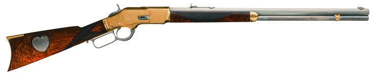 This Capt. Jack Presentation Winchester Model 1873 lever action rifle began as a carbine, was converted and then used as a factory display piece, which was displayed at two World Expositions in 1898 and 1902 respectively. It enters the Dec. 2-4 auction at Rock Island Auction Co. with an estimate of $175,000 to $375,000.