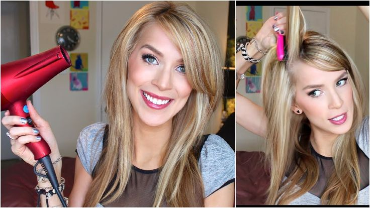 Straight Hair with Volume Tutorial (New Big Texas Hair!) she cracks me up...we'd probably be friends in real life.