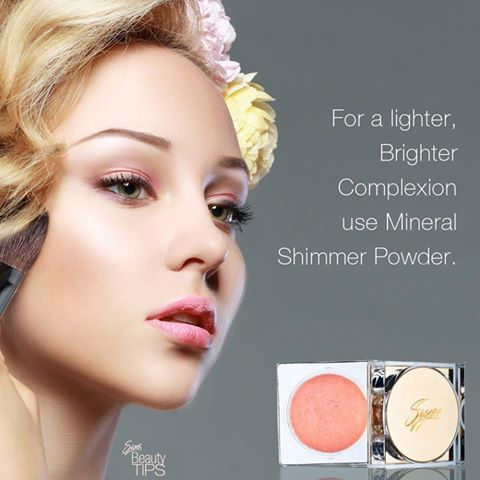 """""""For a lighter, Brighter Complexion use Mineral Shimmer Powder"""" #SiselTips #SiselBeauty #MineralShimmerPowder #ShimmerPowder #Makeup #TimelessMinerals"""