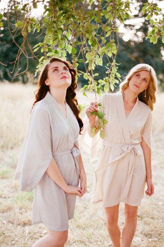 Bridal robes wedding day
