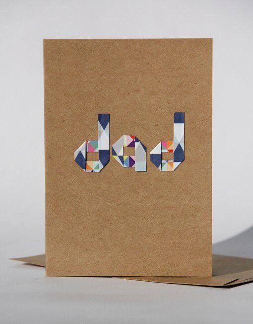 Origami handmade dad card