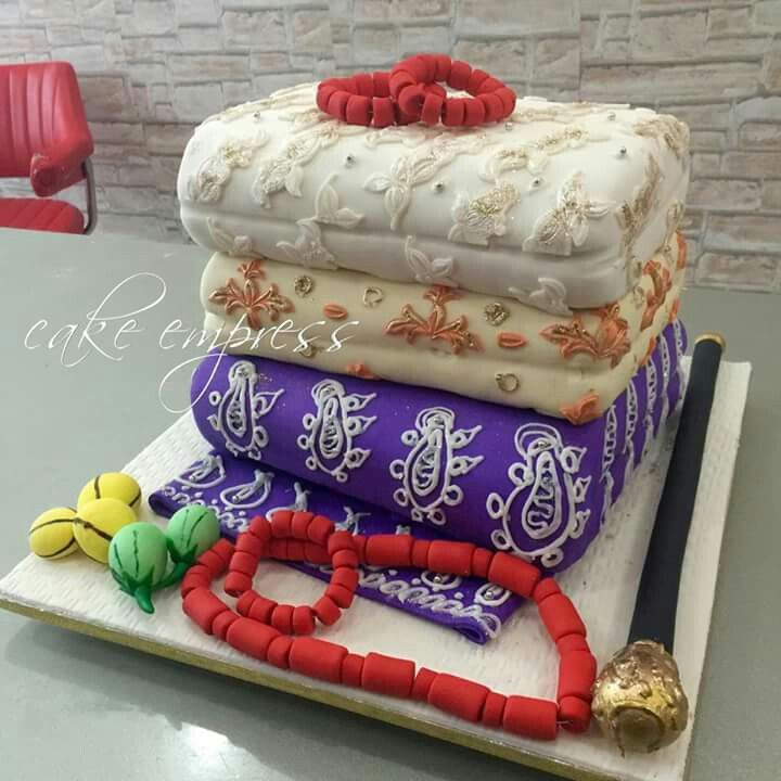 Naija Cake: Nigerian Traditional Wedding Cake #cakeempress Https://m