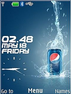 Pepsi theme for Nokia X3, C2-01, X2-00 & 240×320 2700 classic,2720 Fold ,2730 Classic ,3600 Slide ,3600 Slide ,3610 Fold ,3720 Classic ,5000 ,5130 Xpress Music ,5132 XpressMusic ,5220 Xpress Music ,5300,5310Xpress Music ,5330 Xpress Music ,X2 ,X3,Asha 300,Asha 203, Asha 202.Nokia 206,5610 Xpress Music, 6300 ,6300i ,6301,6303, 6303i, 6500 Classic ,6500 Slide ,6555,6600 Fold ,6600i