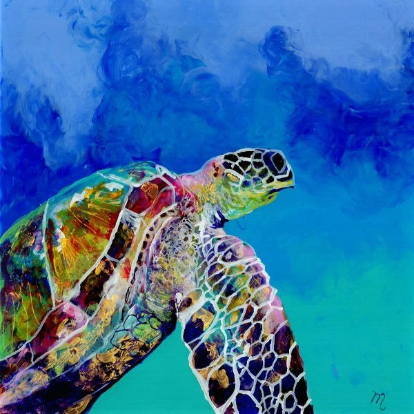 kauaiartist (£16) ❤ liked on Polyvore featuring art, water painting, sea turtle wall art, white wall art, water ink painting and giclee painting